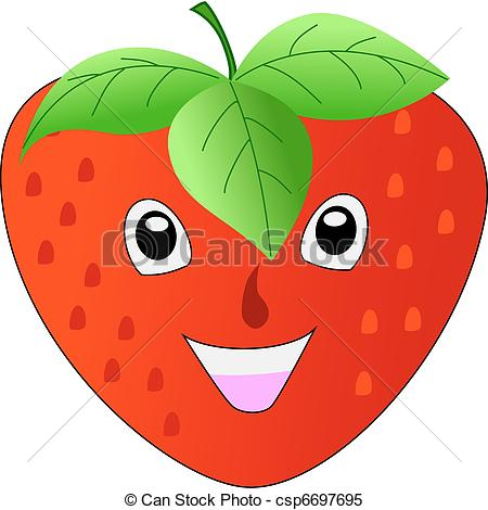 smiling strawberry