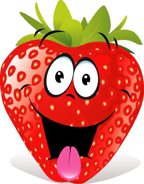 Strawberry Fruit Cartoon | Cartoon Strawberry clip art