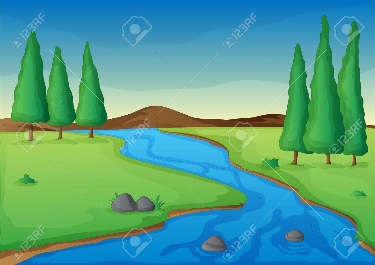 Small stream clipart