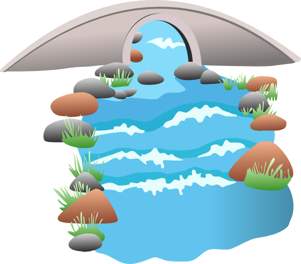 Stream clipart winding river #9