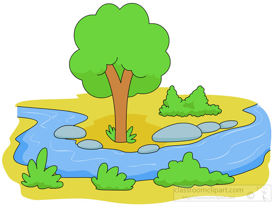 The flow of the river clipart clipground in flowing stream