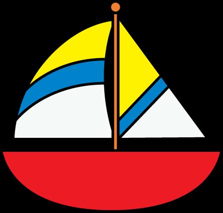 Striped Sailboat