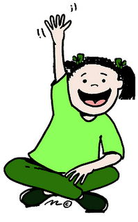 student raising hand clip art