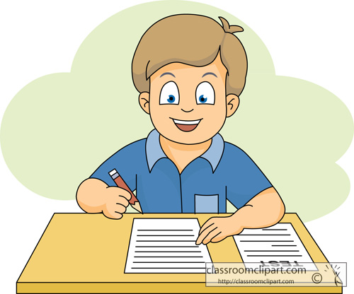 Calm student clipart