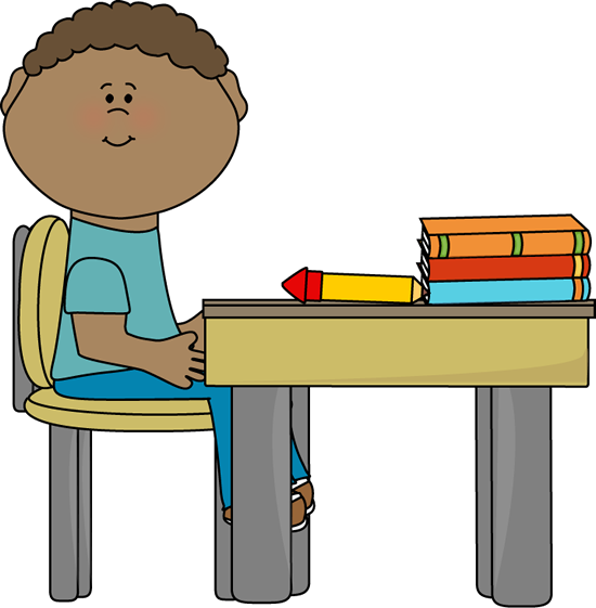 Student Sitting At Desk Clipart Cliparts Co