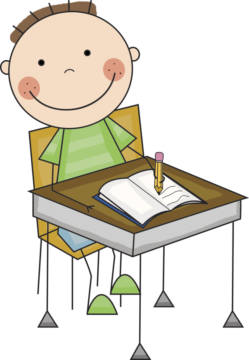Student Working At Desk Clipart Free Clipart