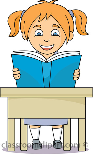 Clipart Student Reading