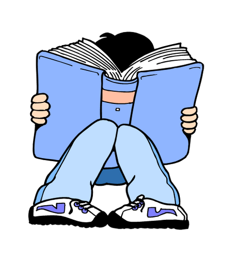 girl reading thinking clipart · Student Thinking Clipart