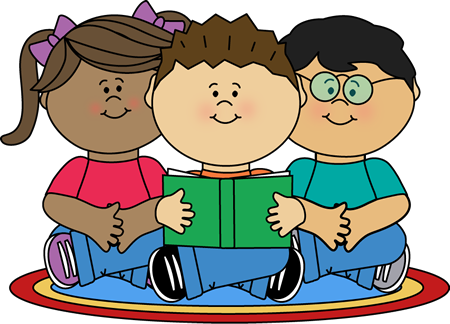 Qualified Reading Clipart For - Students Reading Clipart