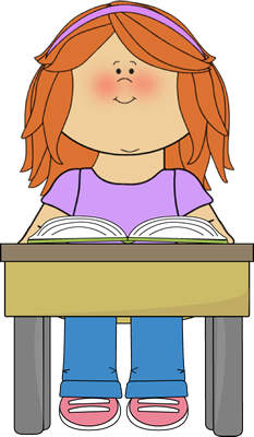 Student Reading School Book - Students Reading Clipart