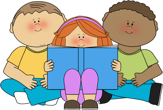 Students Reading Clipart #1