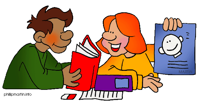 Students Working Together Clipart. Clip Art By Phillip Martin