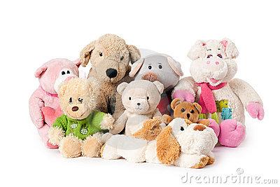 Stuffed Toy Clipart. Big Teddy Bear Pushing Money .