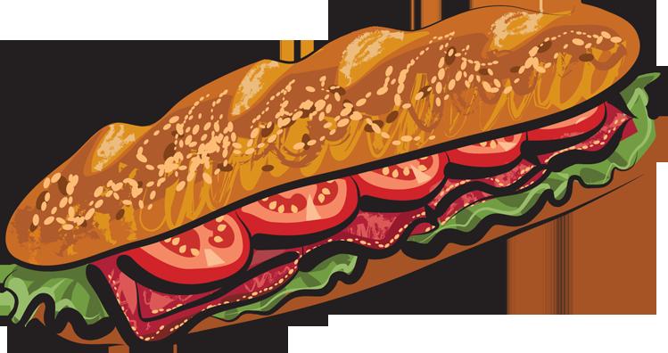 Sub Sandwich Cartoon Clipart Best