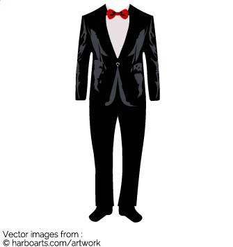 Tuxedo wedding suit clipart. Match this suit with a lady wedding dress and  create a perfect match for a wedding card invitation.