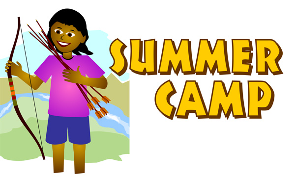 summer camp border clipart