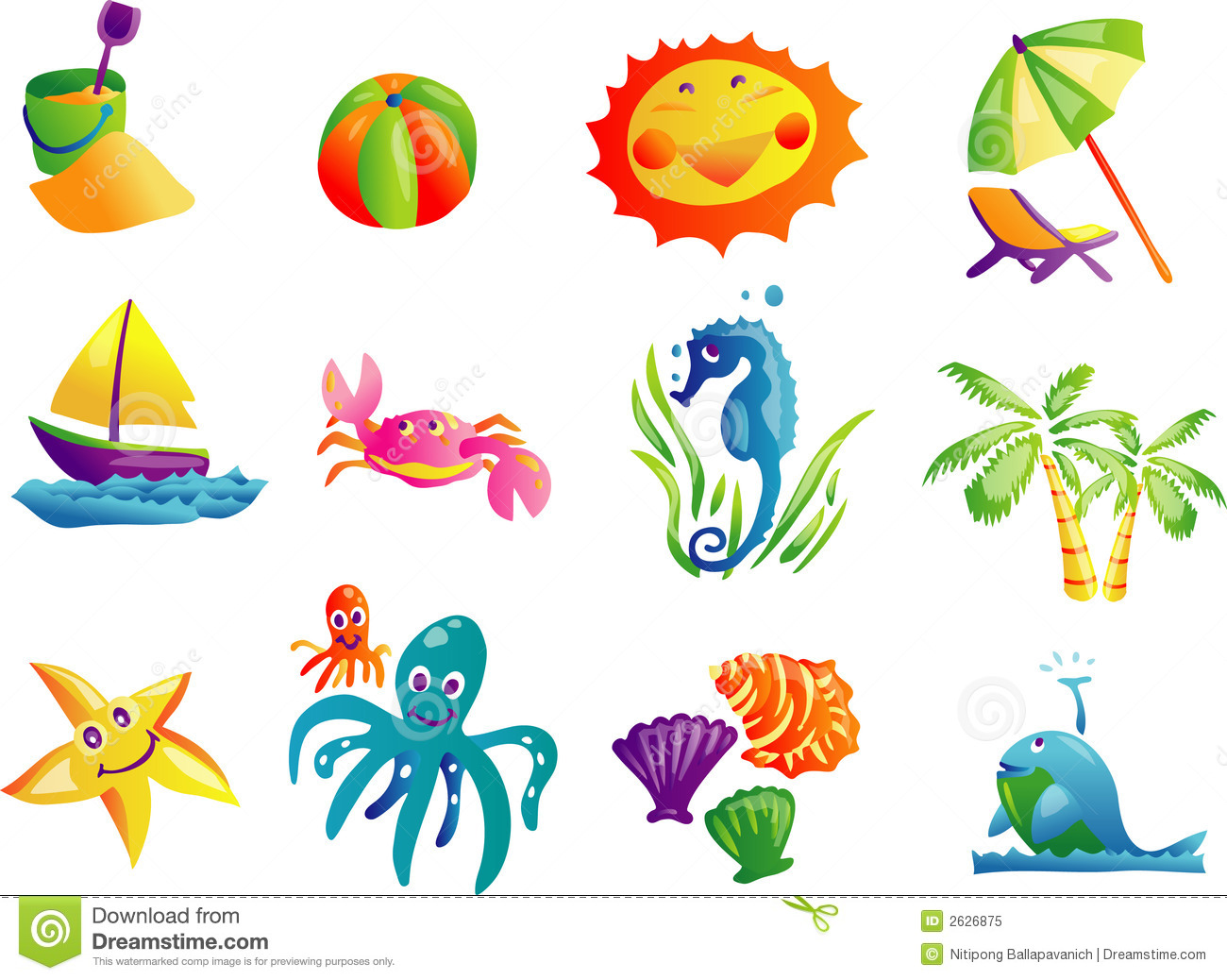 Summer Beach Travel Clip Art