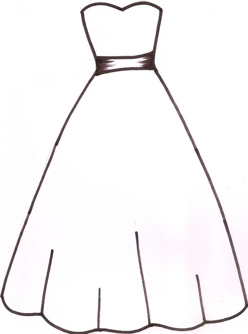 Summer Dress Outline