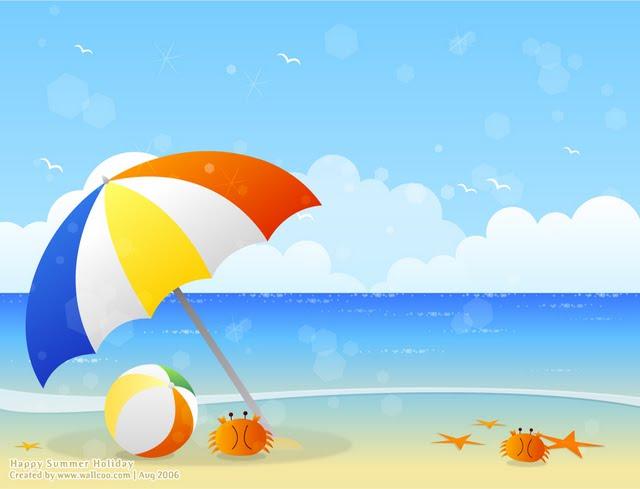 Summer Scene Clipart - Clipart .