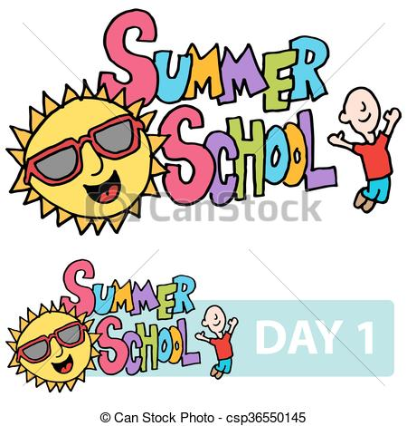 Summer School Son And Student Message Vector