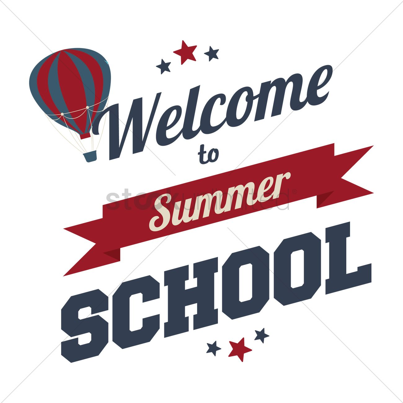 welcome to summer school text vector graphic