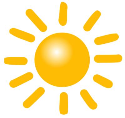 Sunshine sun clip art black a