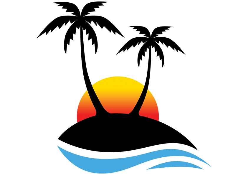 Sun And Palm Tree Clipart Free