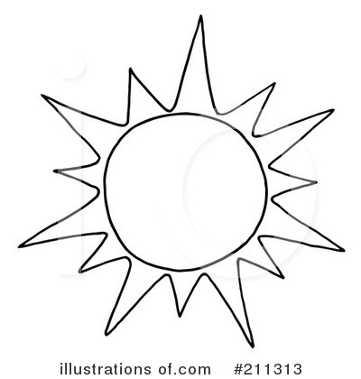 sun clipart black and white. Sun Clipart 211313 .