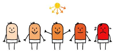 Sunburn Clip Arts