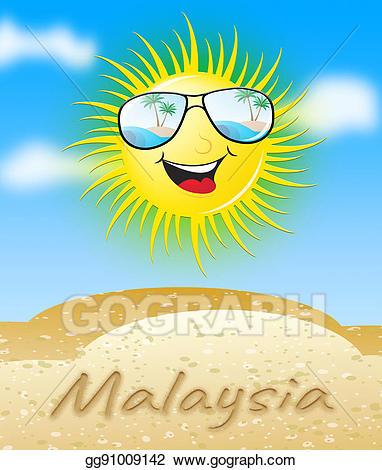 Malaysia Sun Smiling Meaning Sunny 3d Illustration