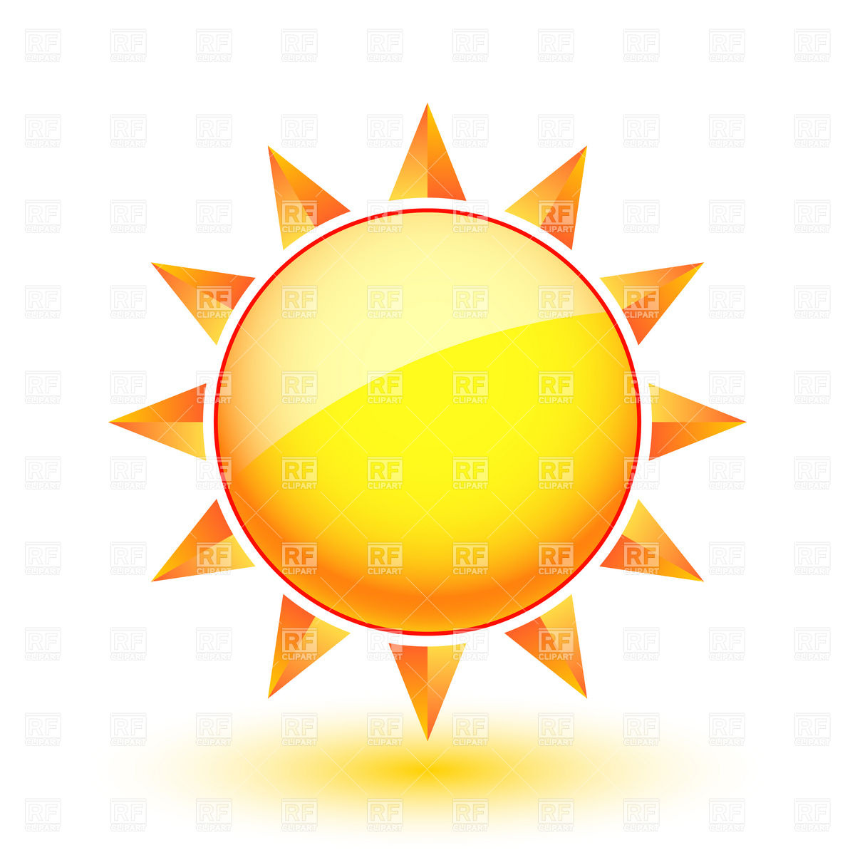 Sun icon - sunny weather Vector Image u2013 Vector Artwork of Icons and Emblems  © dvarg Click to Zoom