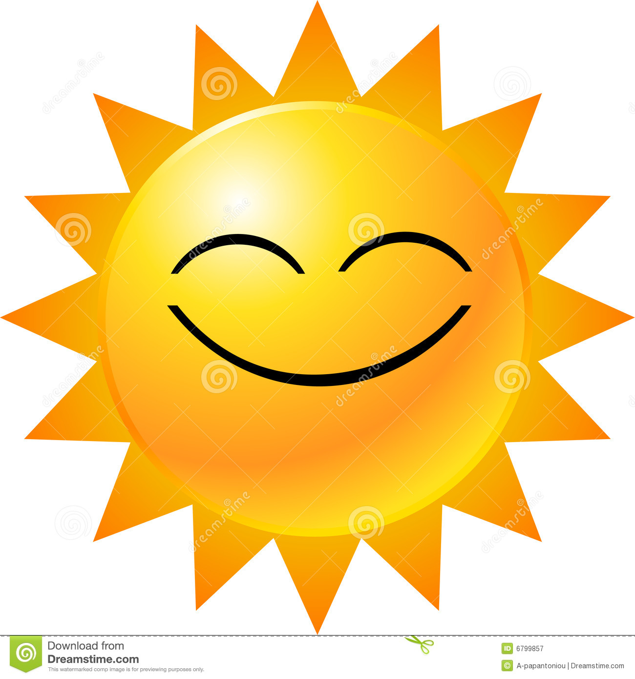 Sunny Smiling Face Clipart #1
