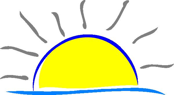 sunset clipart