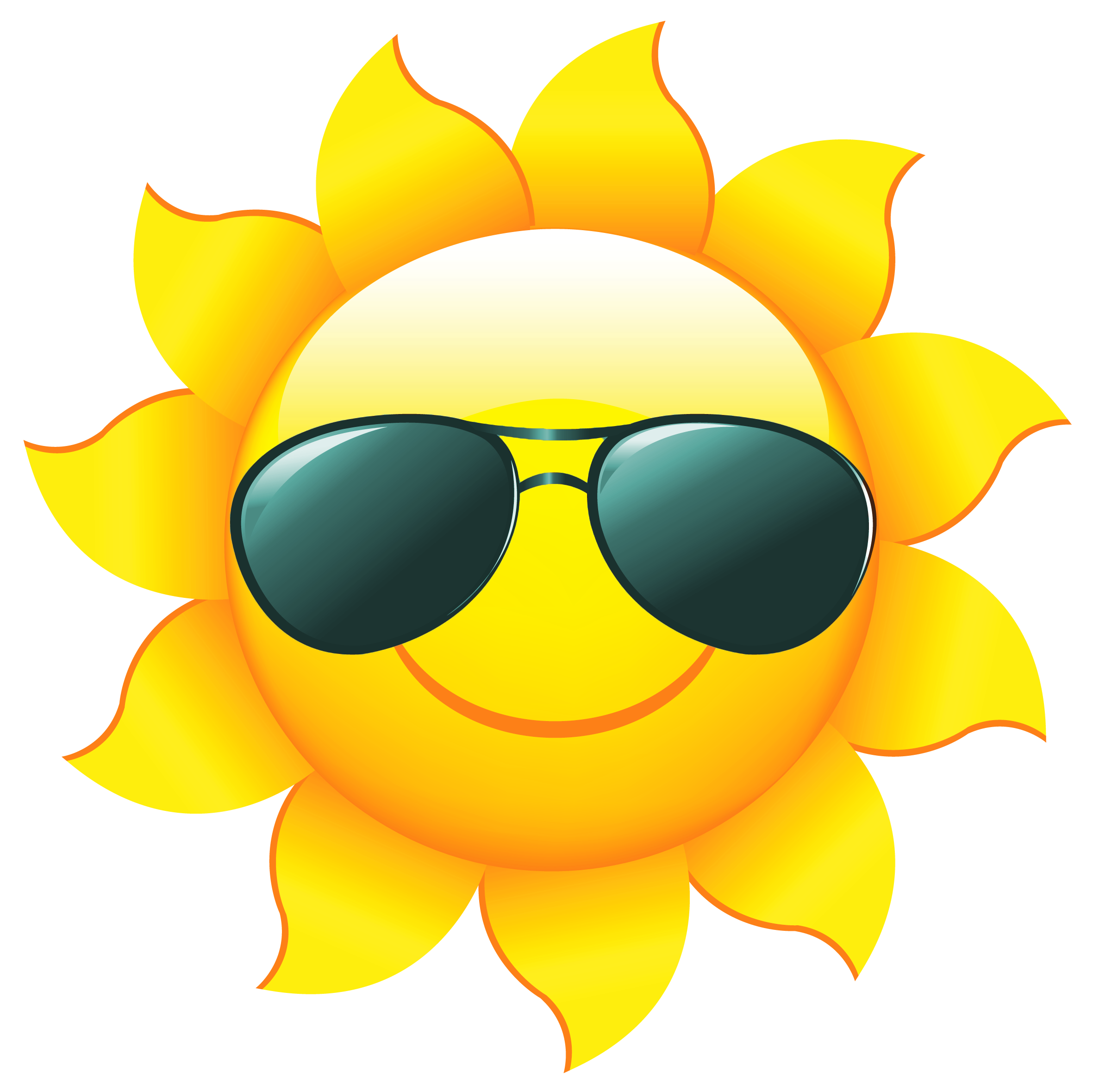 Sunshine sun clip art with transparent background free