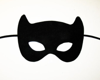 super hero mask clip art