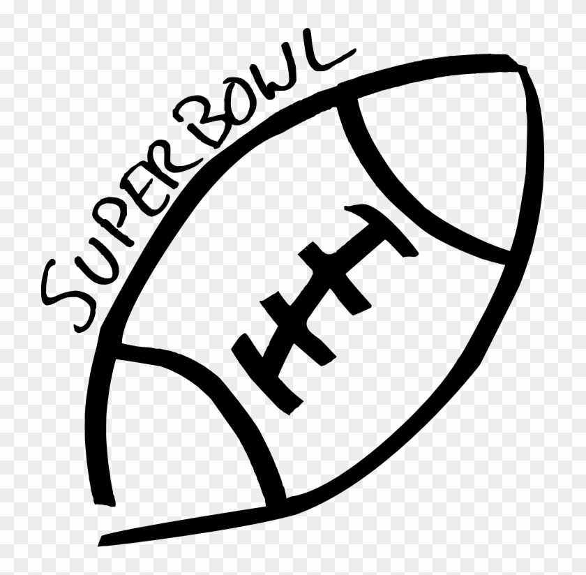 Chic Idea Superbowl Clipart Football Sketch Cleaned - Super Bowl Hdclipartall.com