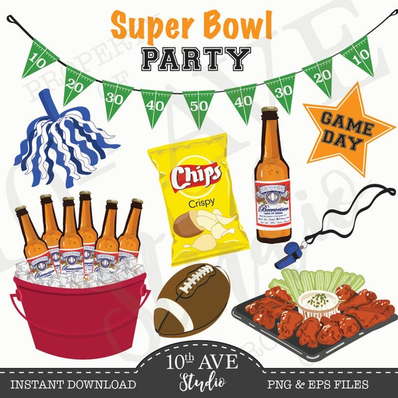 Football - Tailgate - Super Bowl Clipart/vector Graphics