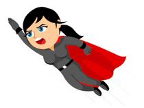 Supergirl flying up clipart.  - Supergirl Clipart