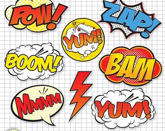 Superhero Clip Art Digital Fil Es Png Files Clip Art Hero Comic Book