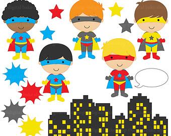 superhero clipart digital clip .