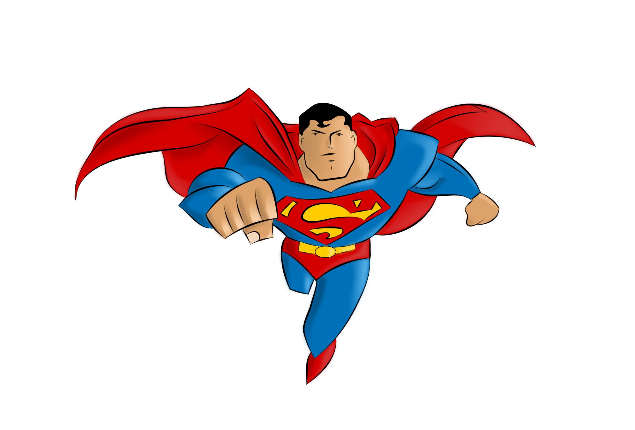 Superman clipart