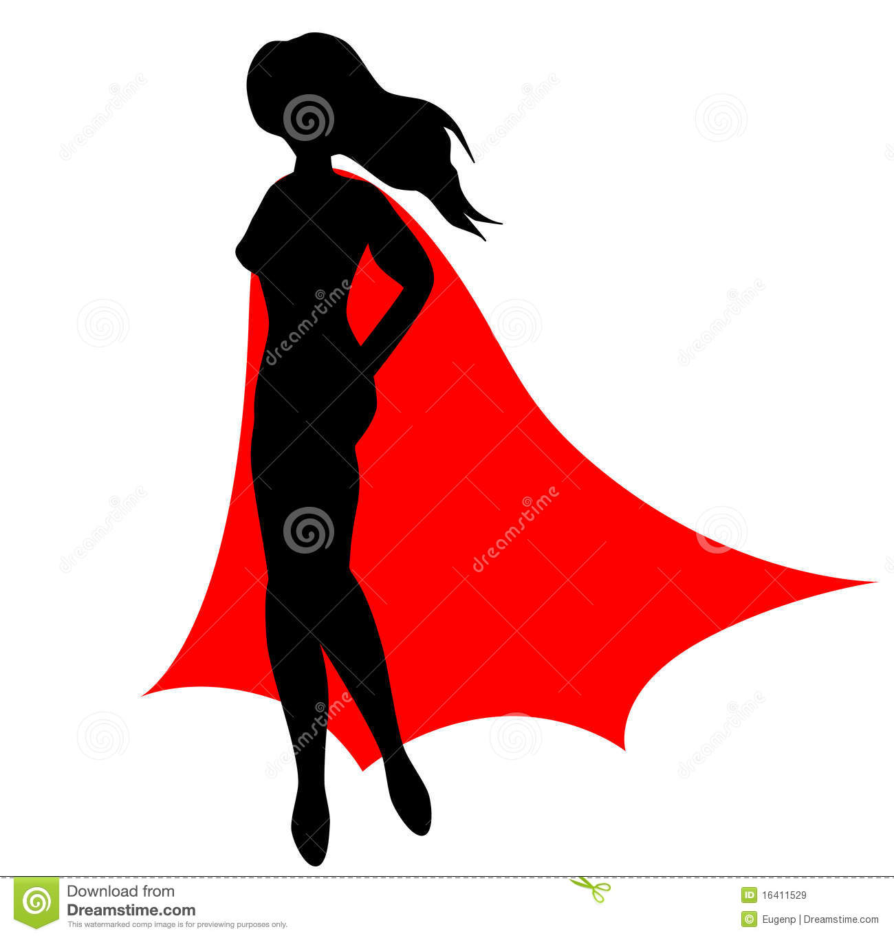 flying superwoman clipart
