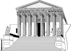 supreme court building clipart