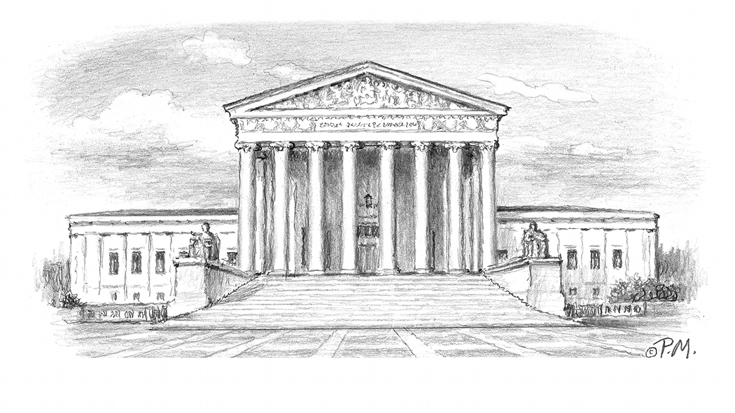Supreme Court Building Drawing