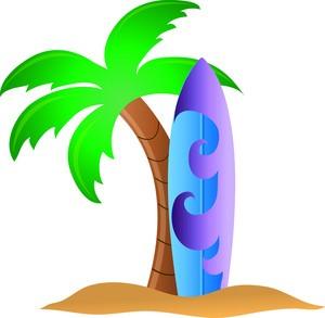 Surfboard Clip Art Illustrations