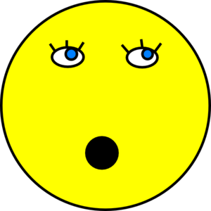 Surprised Smiley Face Clip Art