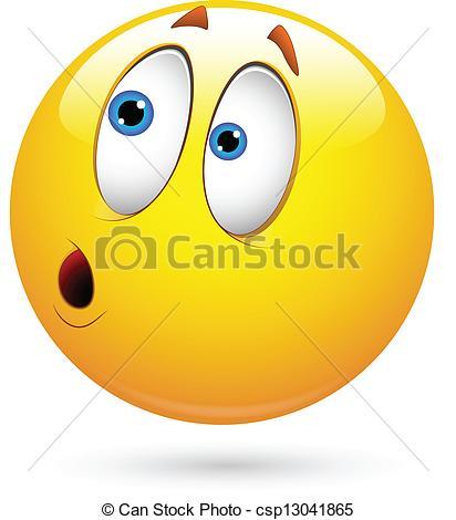 ... Surprised Smiley Face Vector - Creative Abstract Conceptual.