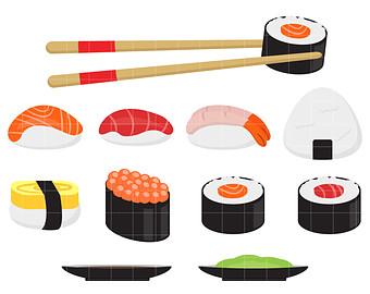 Sushi Party Digital Clip Art ..