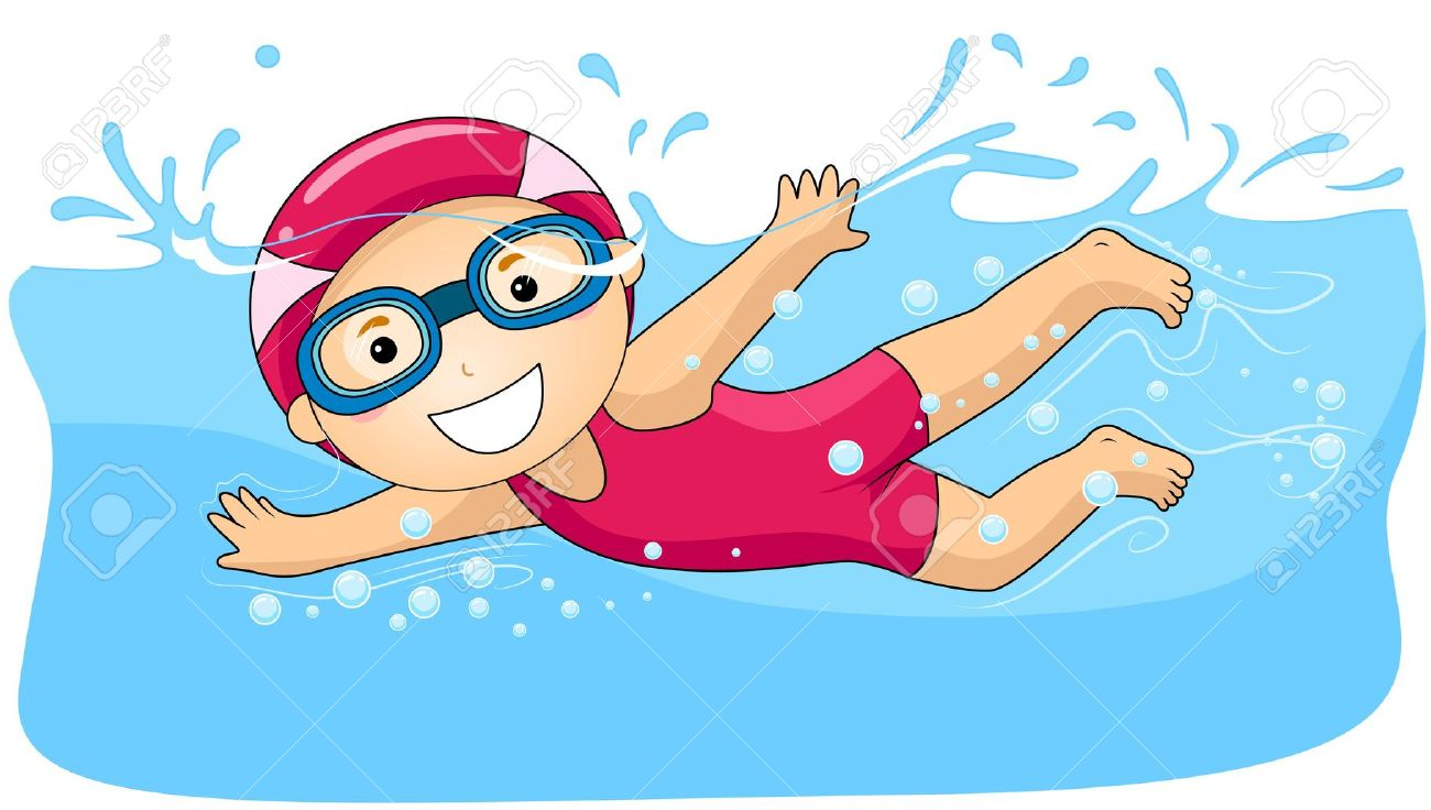 Swimming cliparts