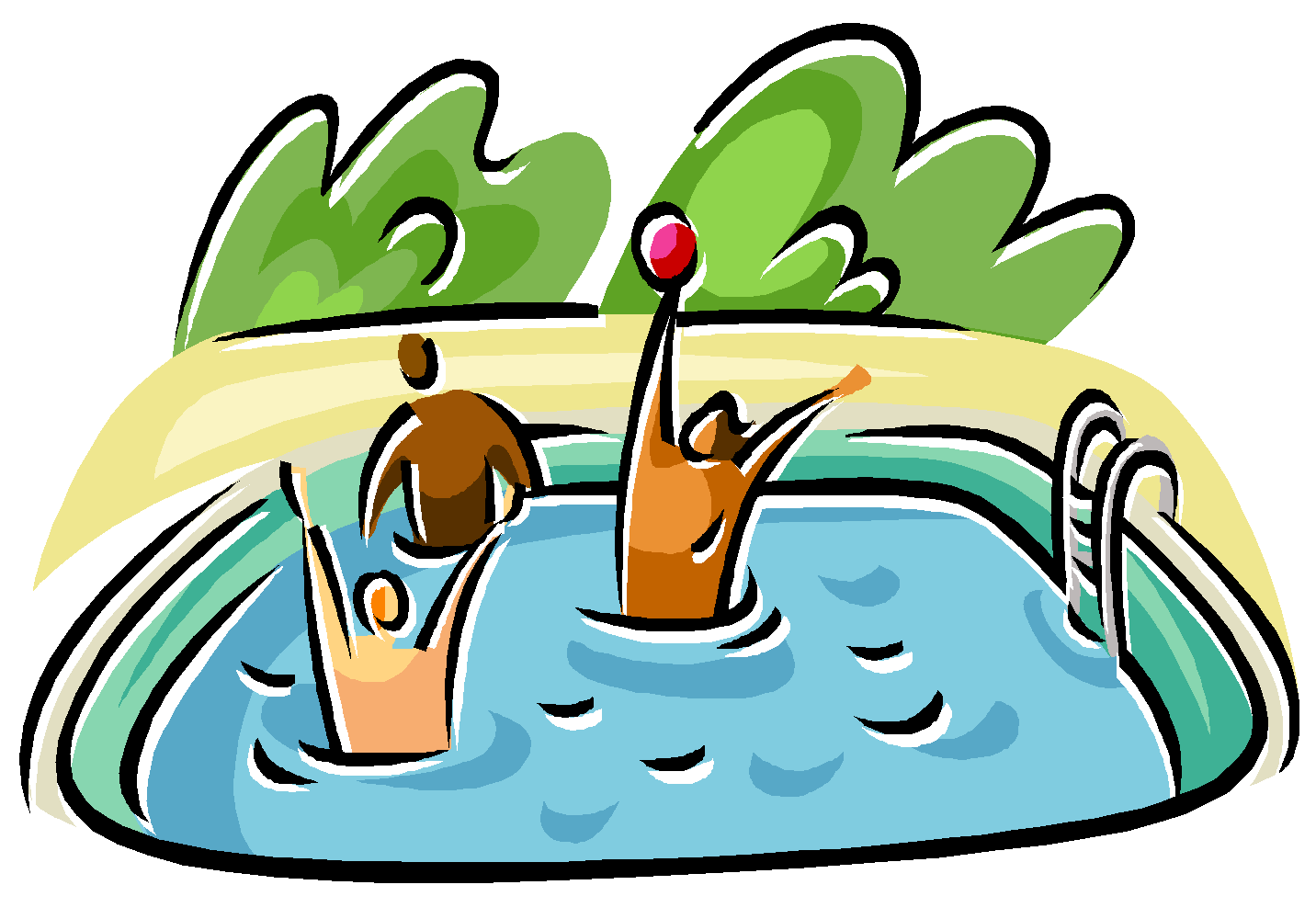 Swimming In A Pool Clipart Clipart Best